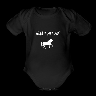 Wake Me Up Horse DJ Music Tee Shirt Gifts - Short Sleeve Baby Bodysuit