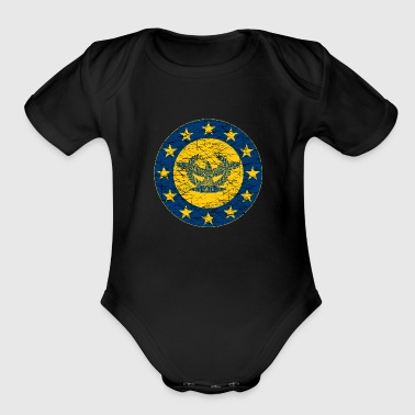 Roman Standard and the EU Flag - Organic Short Sleeve Baby Bodysuit