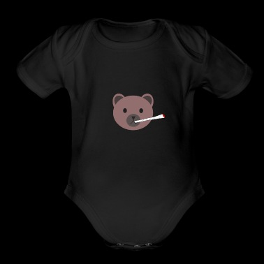 Cute Joint Brown Bear Souvenir Gifts - Organic Short Sleeve Baby Bodysuit