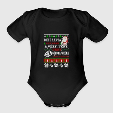 Dear Santa I've Been A Very Good Capricorn - Short Sleeve Baby Bodysuit
