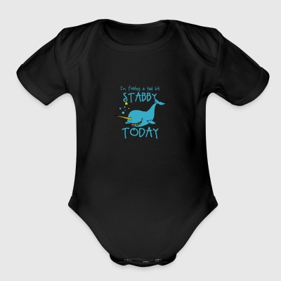Cute Narwhal Gift - Short Sleeve Baby Bodysuit