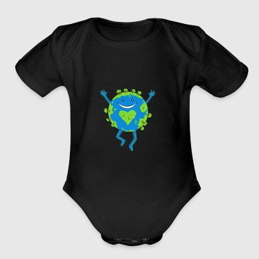 Earth Day Smile - Short Sleeve Baby Bodysuit