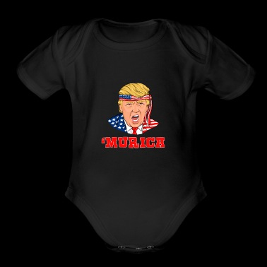 Donald Trump Merica Independence Day 4th Of July - Short Sleeve Baby Bodysuit