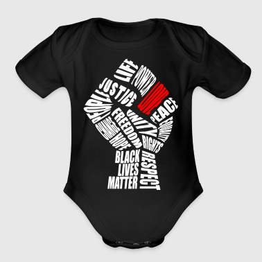 The Love Fist - Organic Short Sleeve Baby Bodysuit