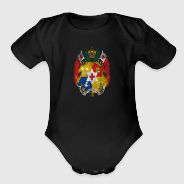 Tongan Coat of Arms Tonga Symbol - Short Sleeve Baby Bodysuit