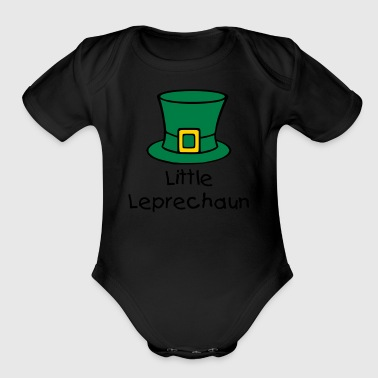 Leprechaun Hat - Organic Short Sleeve Baby Bodysuit
