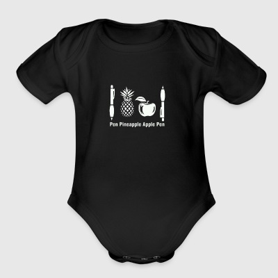 Pen Pineapple Apple Pen - Short Sleeve Baby Bodysuit