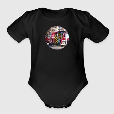 Fire and Rescue - Organic Short Sleeve Baby Bodysuit