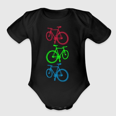 Fixie cycling - Short Sleeve Baby Bodysuit