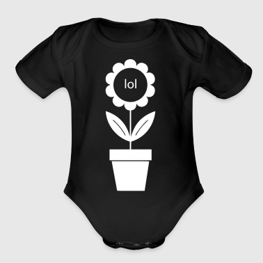 lol flower - Short Sleeve Baby Bodysuit