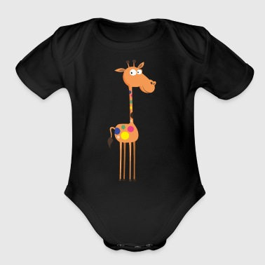 giraffe animal wildlife image cool art - Short Sleeve Baby Bodysuit