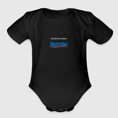 bernie_white - Short Sleeve Baby Bodysuit