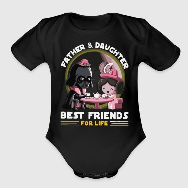 Father and Daughter Best Friends for Life - Organic Short Sleeve Baby Bodysuit