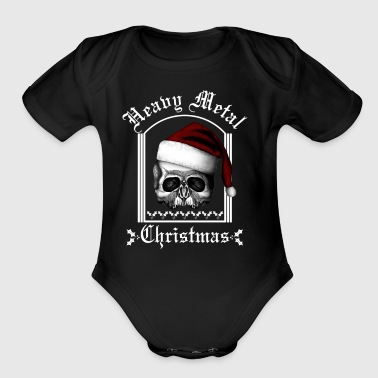 Heavy metal Christmas BLS - Short Sleeve Baby Bodysuit
