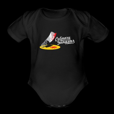 Culinary Gangster - Funny Chef Cooking - Short Sleeve Baby Bodysuit