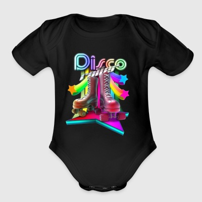 3D Disco Roller - Short Sleeve Baby Bodysuit