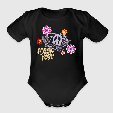 magic year - Short Sleeve Baby Bodysuit