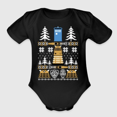 Doctor Who Ugly Sweater T-Shirt - Short Sleeve Baby Bodysuit