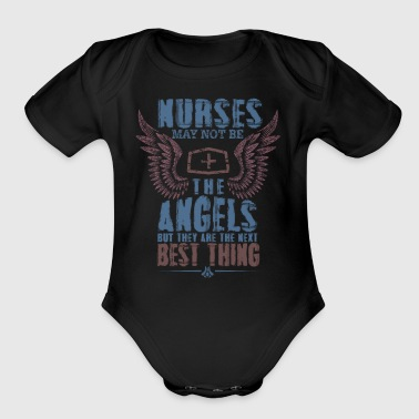 Nurses are Angels - Short Sleeve Baby Bodysuit