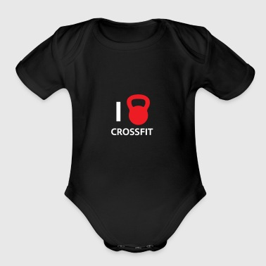 i love crossfit - Short Sleeve Baby Bodysuit