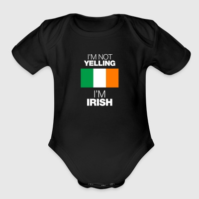 i'm not yelling - Short Sleeve Baby Bodysuit