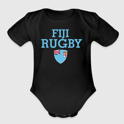 fiji flag design - Short Sleeve Baby Bodysuit