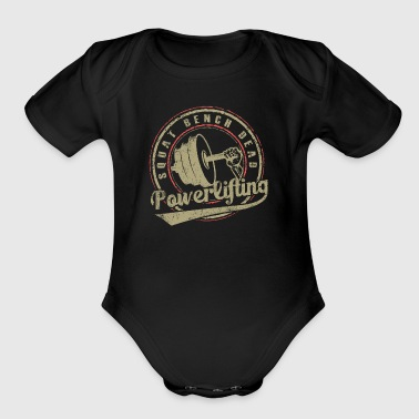 powerlifting - Short Sleeve Baby Bodysuit