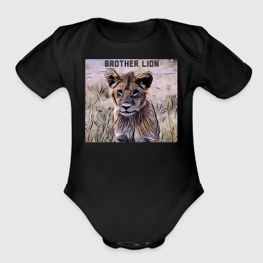 Brother Lion - Short Sleeve Baby Bodysuit