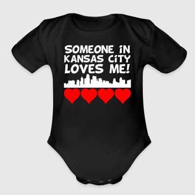 Someone In Kansas City Kansas Loves Me - Short Sleeve Baby Bodysuit