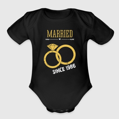 Married since 1986 - Short Sleeve Baby Bodysuit