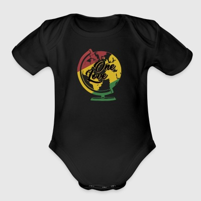 One Love T-Shirt Rasta Reggae Men World Gift - Short Sleeve Baby Bodysuit