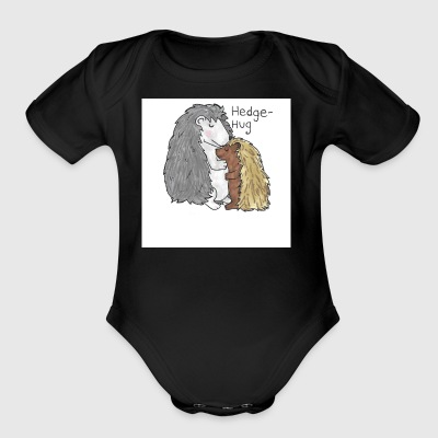 Hedgehug - Short Sleeve Baby Bodysuit