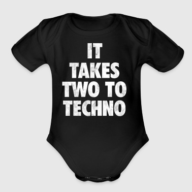 It takes two to techno - Short Sleeve Baby Bodysuit