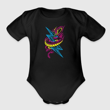 Lightning Serpent - Short Sleeve Baby Bodysuit