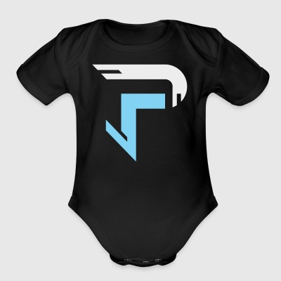 Proximitty Silver and Blue Logo - Short Sleeve Baby Bodysuit