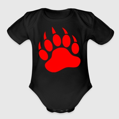 red paw - Short Sleeve Baby Bodysuit