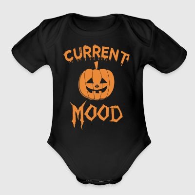 Current Pumpkin Mood Halloween - Short Sleeve Baby Bodysuit