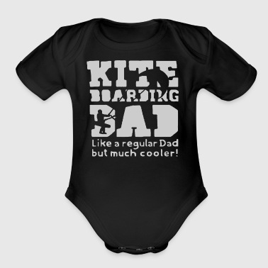 Kiteboarding Dad - Short Sleeve Baby Bodysuit