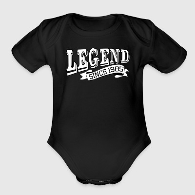 Funny Happy Birthday Shirt Legend Since 1985 - Short Sleeve Baby Bodysuit