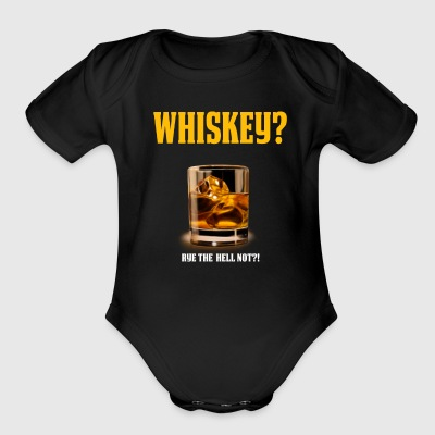 Funny Whiskey Lover Shirt Whiskey Gift Rye the Hell Not - Short Sleeve Baby Bodysuit