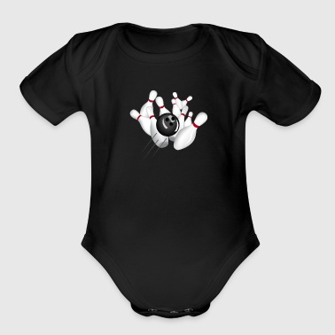 bowling - Short Sleeve Baby Bodysuit