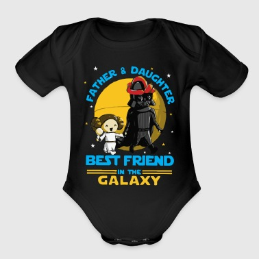 Father and Daughter in the Galaxy - Short Sleeve Baby Bodysuit