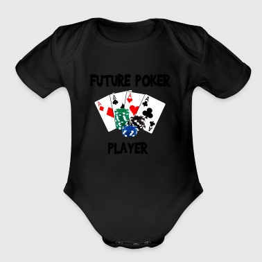 future_poker_player - Organic Short Sleeve Baby Bodysuit