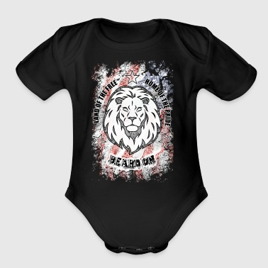 Beard On Patriotic Shirt - Short Sleeve Baby Bodysuit