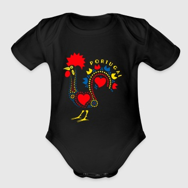 Rooster portugal - Short Sleeve Baby Bodysuit