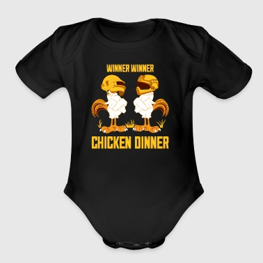 Winner Chicken Dinner - Short Sleeve Baby Bodysuit