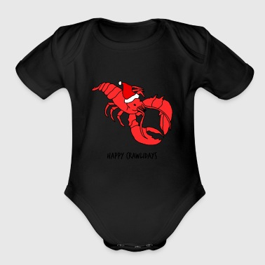 Lobstermas - Organic Short Sleeve Baby Bodysuit