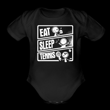 Eat Sleep Tennis - Organic Short Sleeve Baby Bodysuit