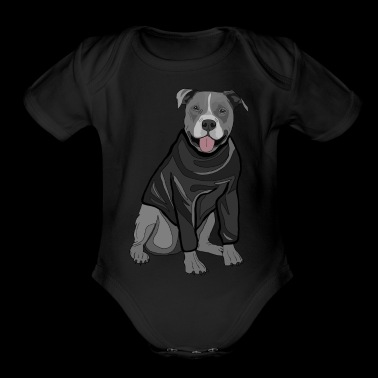 Sweet dog sweater dogs lover gift idea stafford - Organic Short Sleeve Baby Bodysuit