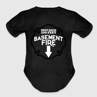 Fire Department Logo 2 - Organic Short Sleeve Baby Bodysuit